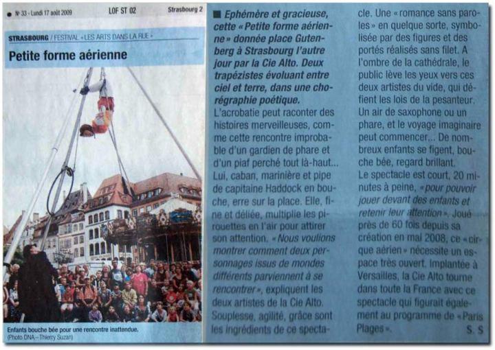 Dernières Nouvelles d'Alsace 2009